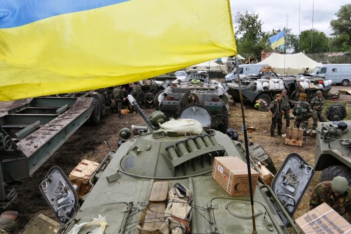 War in Donbass by ВО «Свобода», licence CC BY 3.0