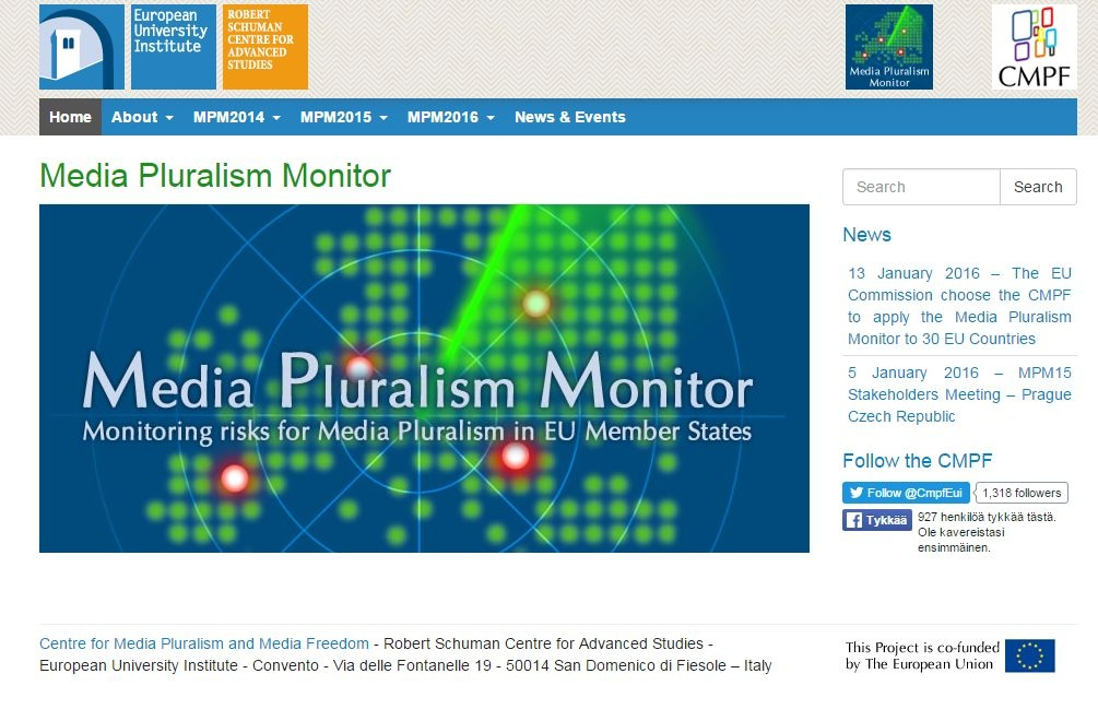 Screen capture from the CMPF website