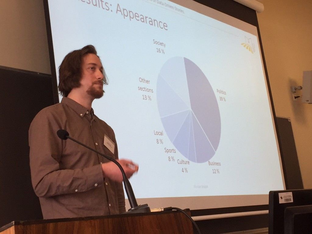 Florian Stalph presenting at the NODA16 academic preconference, photo by Turo Uskali