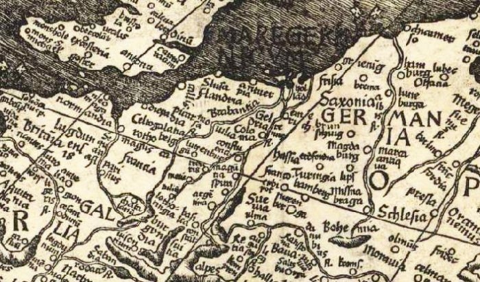 Picture: Waldseemüller map, cropped