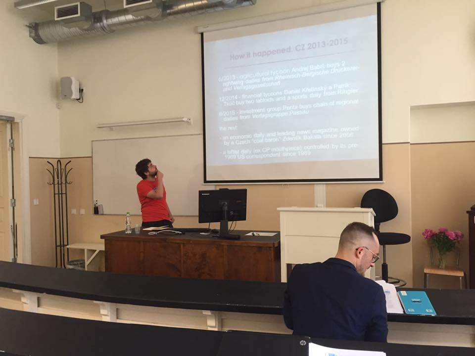 Jan Miessler presenting at CEECOM 2016, photo by Turo Uskali