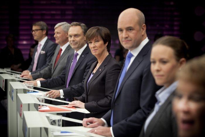Picture: Slutdebatt i SVT by De Rödgröna, license CC BY 2.0
