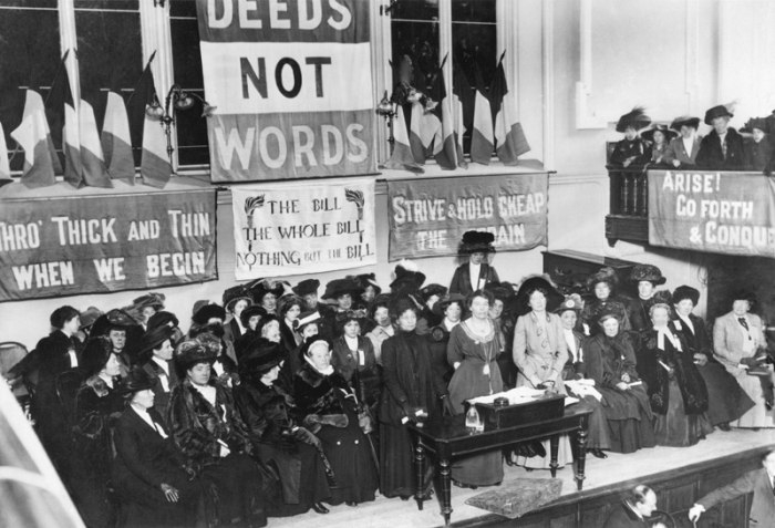 Picture: Suffragettes, England, 1908 by New York Times, license public domain