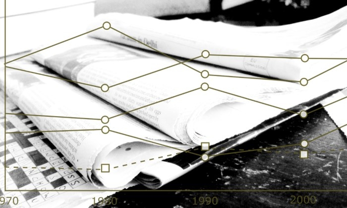 Picture: Newspapers B&W by Jon S, license CC BY 2.0, edited