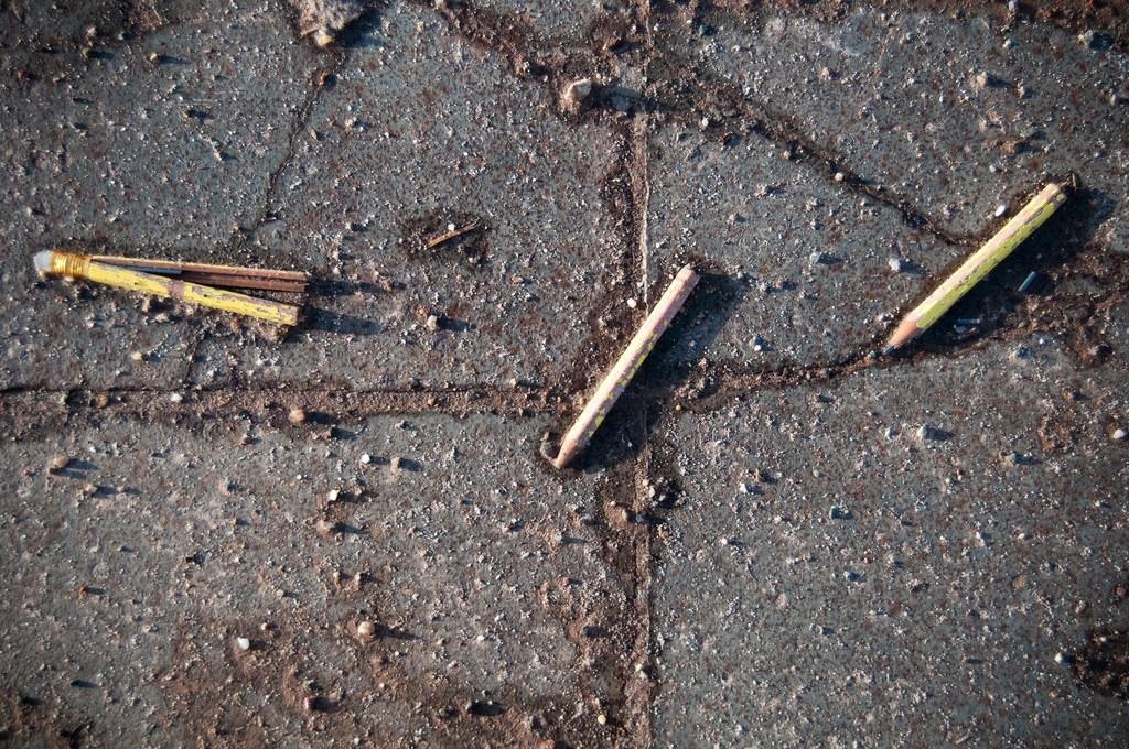 3 broken pencils @ Digbeth, Birmingham by Tim Parkinson, licence CC BY 2.0