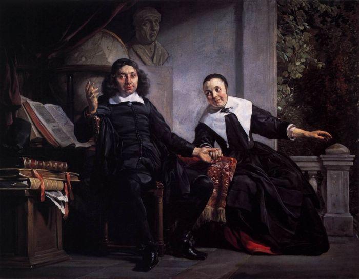 Portrait of the Haarlem printer Abraham Casteleyn and his wife Margarieta van Bancken by Jan de Bray, public domain