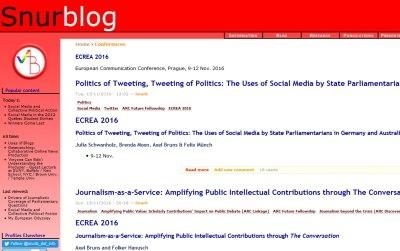 Snurblog, website of Axel Bruns