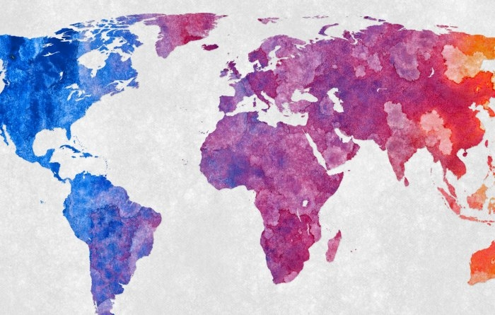 Picture: World Map - Abstract Acrylic by Nicolas Raymond, license CC BY 2.0