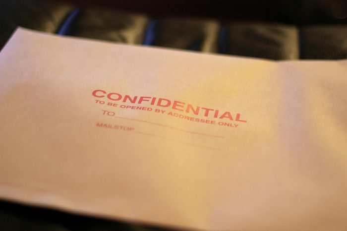 Confidential by Casey Marshall, licence CC BY 2.0