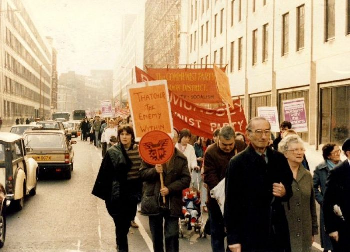 Miner's Strike rally, 1984 by Nick, licence CC BY 2.0