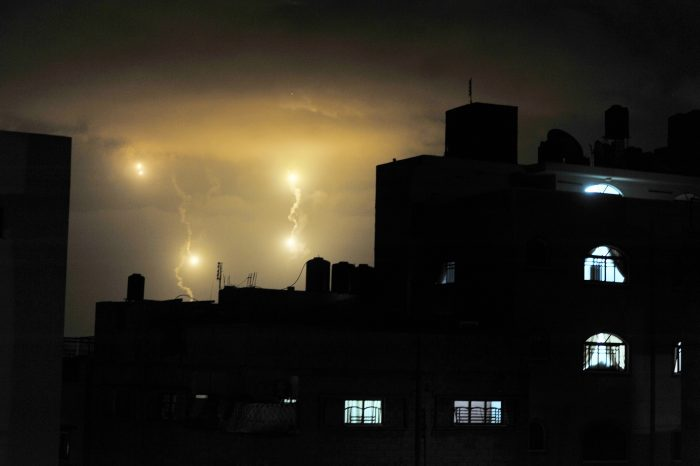 Gaza City Night Sky during Hostilities by United Nations Photo, licence CC BY-NC-ND 2.0