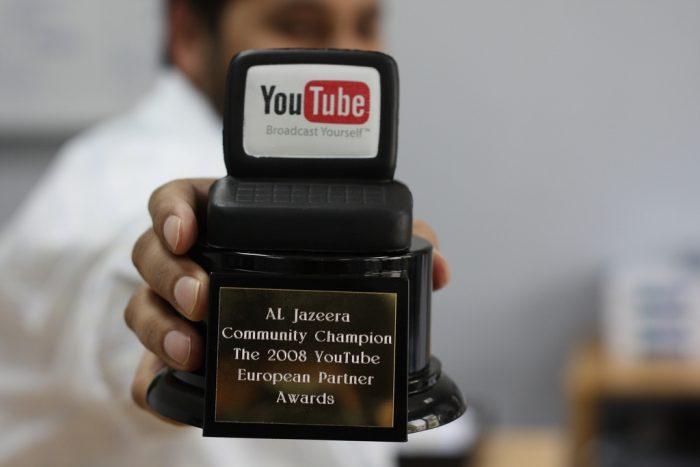 Al Jazeera wins YouTube Award by Mohamed Nanabhay, licence: CC BY 2.0
