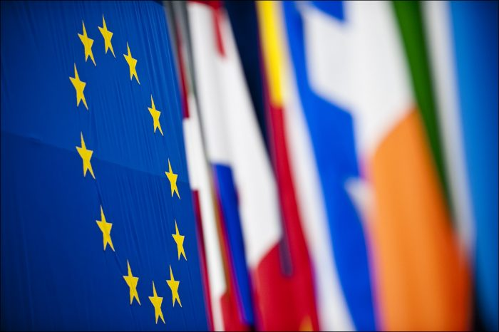 A multitude of colourful flags at the European Parliament in Strasbourg by European Parliament, licence CC BY-NC-ND 2.0