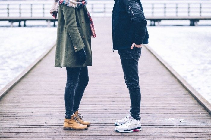 Picture: Two people standing on the pier, by freestocks.org, license CC0 1.0