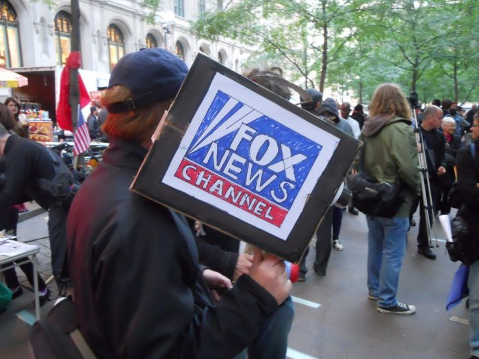 Fake Fox News Camera and Cameraman by Michael Dolan, licence CC BY 2.0