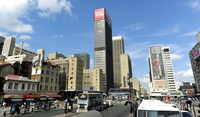 Picture: View of Joburg inner city from Gandhi Square by South African Tourism, license CC BY 2.0