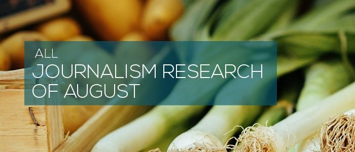 All journalism research of August 2017