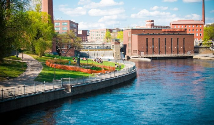 Picture: Tampere, classy view by Alexander Savin, license CC BY 2.0
