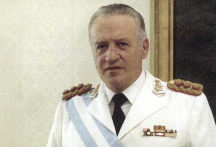 Leopoldo Galtieri, photograph courtesy of the Office of the President of Argentina. Cropped. Licence CC BY-SA 2.0