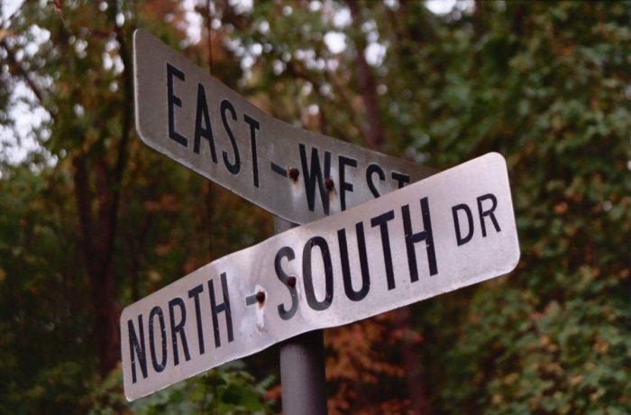 Corner of East-West and North-South byChris Collins, licence: CC BY-SA 2.0