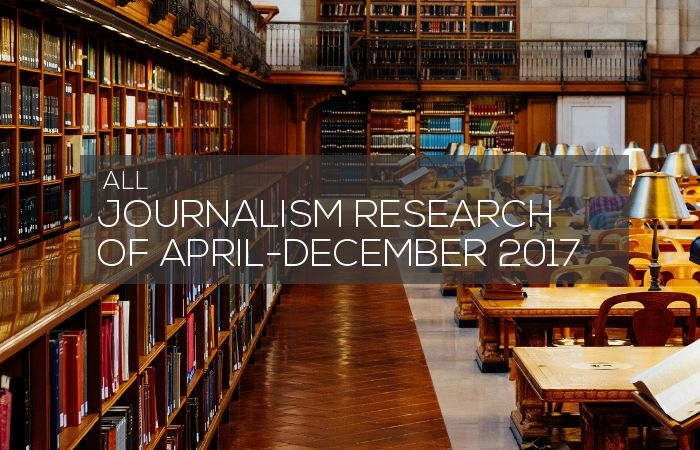 Journalism Research of April-December 2017