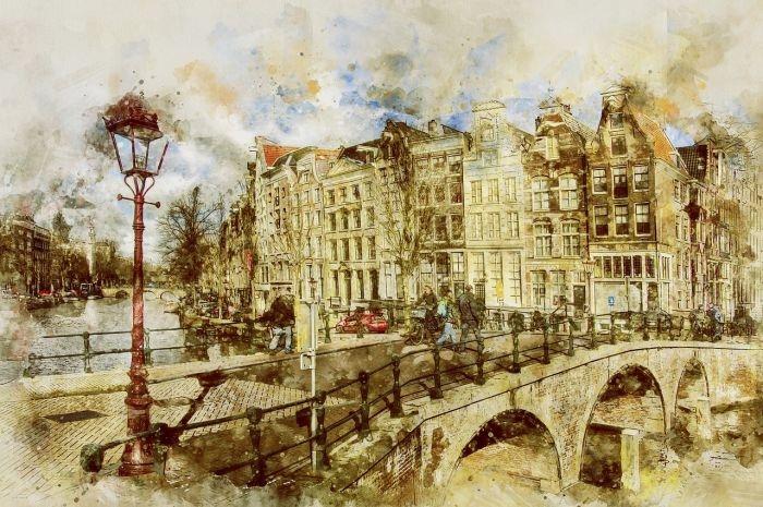Picture: Amsterdam, Keizersgracht by werner22brigitte, license CC0 1.0