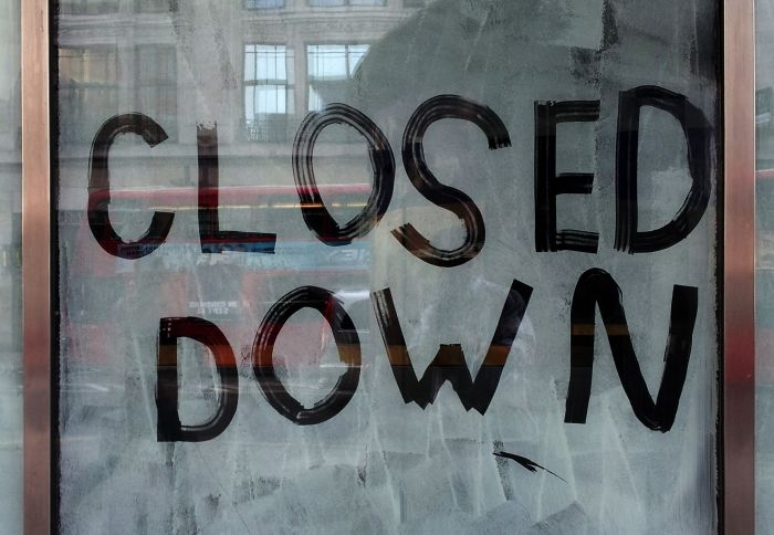 Picture: Closed down by Marco Bianchetti, license CC0 1.0