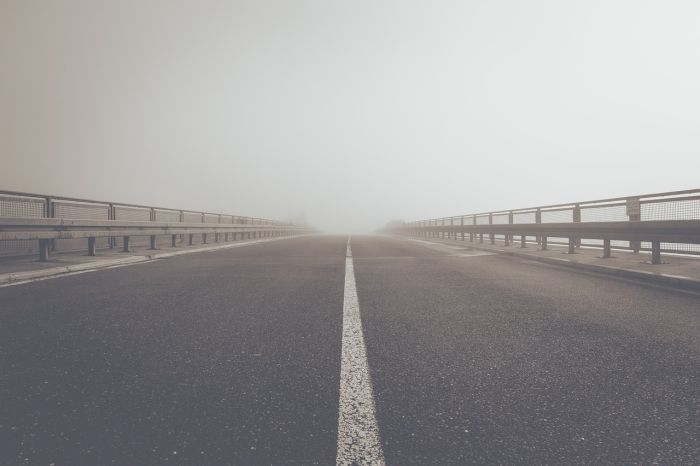 Picture: Fog road highway by markusspiske, license CC0 1.0