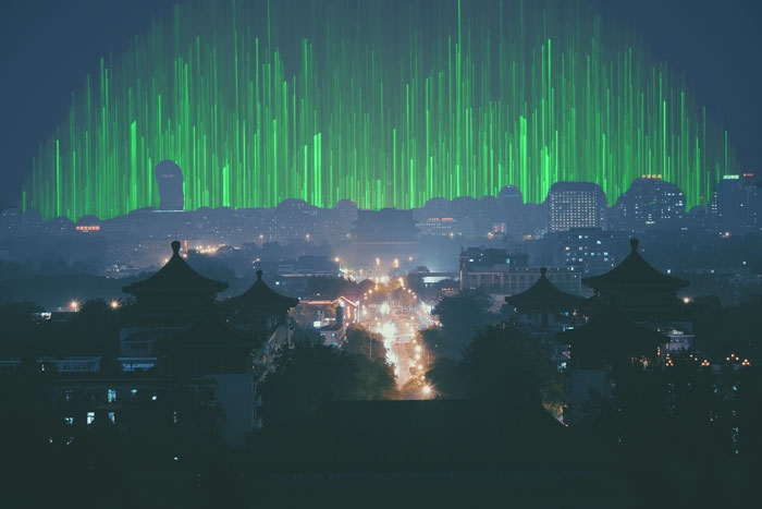 Picture: China at night by Ken Lawrence and Another dimension by Rene Böhmer, licenses CC0 1.0