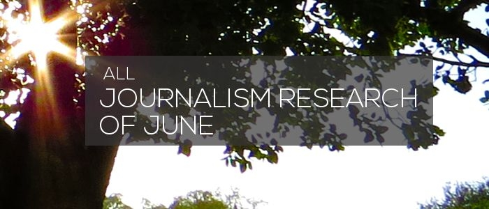 Research of June 2018 – Journalism research news