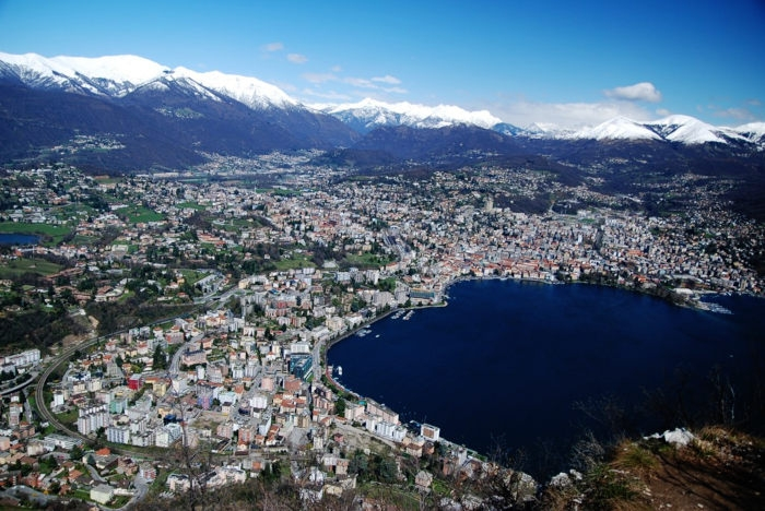 Lugano aerial view