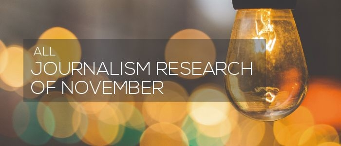 Journalism Research of November 2018