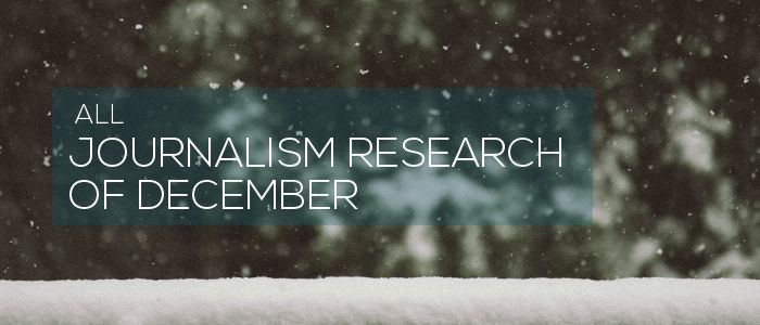 Journalism research of December 2018