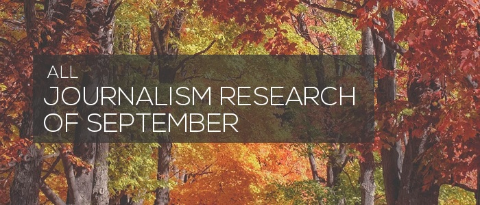 Journalism Research of September 2019