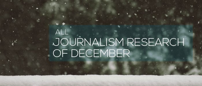 Journalism Research of December 2019