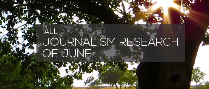 Journalism Research of June 2020
