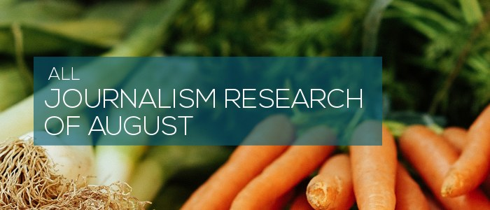 journalism research of august 2020