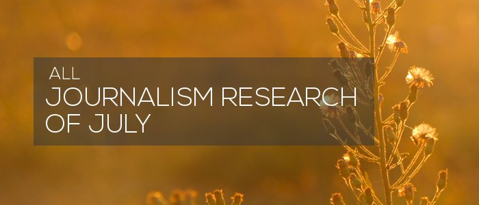 journalism research of july 2020