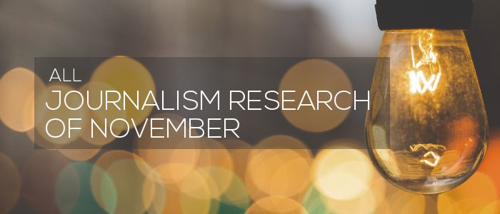 Journalism Research of November 2020